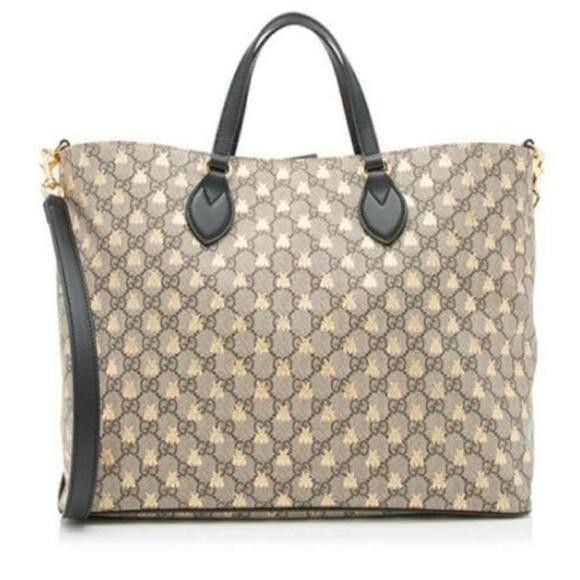 de95b6dd37d2e Gucci Handbags - GUCCI Bestiary GG Supreme Medium Top-Handle Tote